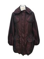 LADIES JIGSAW DEEP BURGUNDY LIGTHWEIGHT RAIN PARKA STYLE COAT. SIZE UK 14/16 (L)