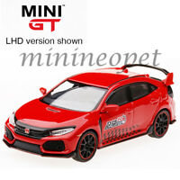 TSM MINI GT MGT00024 2017 HONDA CIVIC TYPE R FK8 1/64 TIME ATTACK CHALLENGE RED
