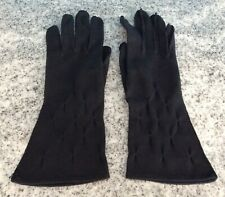 Vintage Buchess New York Glove Company Lovely black Ladies Gloves Double Woven 7
