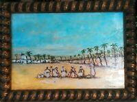tableau huile sur toile - orientaliste -