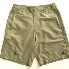 Adidas Men's Philadelphia 76ers XL Khaki Shorts Cargo Pocket Zipper NBA 2001