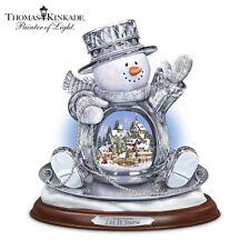 Thomas Kinkade Crystal Saucer Sled Snowman Bradford Exchange 01-16044-001