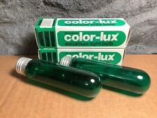 2 Lot | 25W Incandescent Aquarium Bulb | Fits E26 Socket | Green