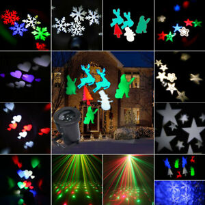 LED Christmas Projector Lights Garden Indoor & Outdoor Xmas Landscape Party Lamp
