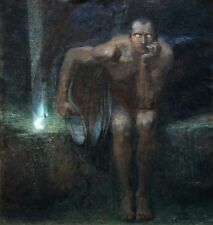 "Franz von Stuck Lucifer Handmade Oil Painting repro 20""x24"""