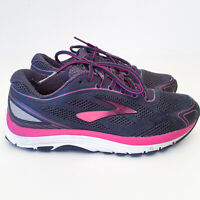 Brooks Dyad 9 Womens Athletic Running Shoes Sneakers Sz 8 US Fuschia/Blue/White