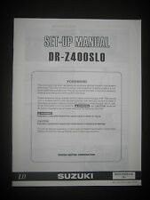 SUZUKI DR-Z400SLO Set Up Manual Set-Up DR Z400 SLO 99505-01020-01E Motorcycle