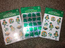 Amscan St Patricks stickers lot Leprechauns/ Clovers - Vintage