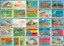 25 alte Gasthaus-Streichholzetiketten aus Deutschland #889