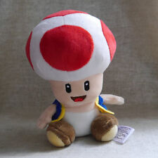 Stuffed Animal Super Mario Bros. Plush doll Red TOAD 6""
