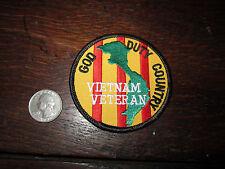 Vietnam Veteran Patch God Duty Country