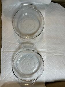 2 Anchor Hocking Mini Glass Pie Tart Plate 6 Inch Oven Microwave Safe Set of Two