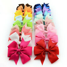 10PCS New Baby Kids Girls Grosgrain Ribbon Bow Hair Clip Hairpin Aligator Clips