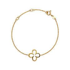 Links of London Ascot Four Leaf Clover 18kt Yellow Gold Vermeil Bracelet 19.5cm