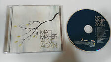 MATT MAHER ALIVE AGAIN CD 2009 CHRISTIAN ROCK POR HARD ROCK