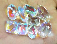 Beautiful 151.30 Ct 9 Pcs Mix Shape Mystic Rainbow Topaz Gemstone Lot~CD5499