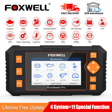 Foxwell Car OBDII Scanner ABS SRS EPB Oil DPF Reset Injector Diagnose Tool NT634