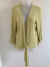 Chico's Travelers Green Tie Jacket Size 2 Or Misses 12/14