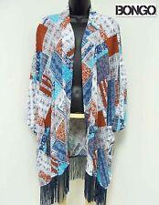 NWT 3X Plus Bongo Trendy Fringe Kimono Open Cardigan Cover Up XXXL Shawl 3XL New