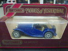 Matchbox Models of Yesteryear MG-TC 1945 Y-8 blauw