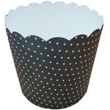 Fox Run Craftsmen Black Polka Dots Cupcake Muffin Paper BAKING CUPS x 25