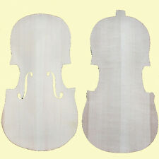 Unfinished Violin Maple BACK & Spruce TOP-For 4/4 Violin Maker -Violin Luthier