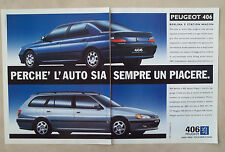 D555 - Advertising Pubblicità - 1997 - PEUGEOT 406 BERLINA E STATION WAGON
