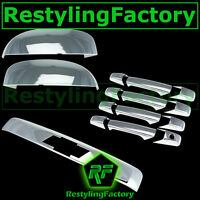 07-14 Chevy Suburban Chrome Top Mirror+4 Door Handle+Top Liftgate w/ LOGO Cover