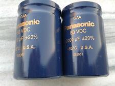 2pcs NEW PANASONIC GAA 22000uF 80V 50X75mm HI END CAPS FOR AUDIO !