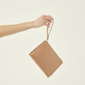 Authentic Oroton Zip Wristlet Wallet Medium Pouch Purse Crossgrain Leather New