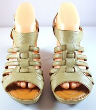 Born Leather Strappy Heel Sandals Womens Size 9 / 40.5