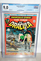 TOMB OF DRACULA  #1 CGC 9.0 (VF-NM) !  1ST APP. OF DRACULA IN A MARVEL COMIC