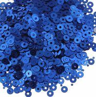 1200 Pailletten 4mm Blau Rund Glatt Perlen Basteln Nähen Dekoration BEST PAI38