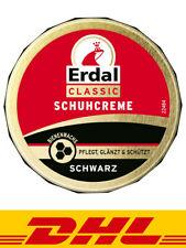 Erdal Classic Schuhcreme Schwarz - Dosencrememit echtem Bienenwachs 75 ml