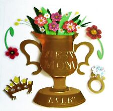 Best Mom Ever Trophy Vase Mother's Day Flowers Diamond RARE Jolee's 3D Sticker