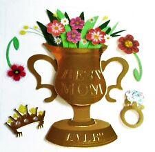 Best Mom Ever Trophy Vase Mother's Day Flowers Diamond RARE Jolee's 3D Sticker