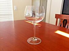 RARE WATERFORD CRYSTAL BALLOON  WINE GLASS GOBLET WITH GOLD ON THE STEM EUC