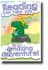 Reading Can Take You on an Amazing Adventure - NEW Classroom Motivational POSTER
