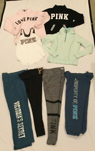 PINK by Victoria's Secret LOT of 8 Items - Pullovers Tank Leggings Pants Sz S