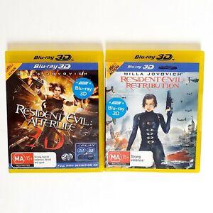 Resident Evil Afterlife + Retribution 2x Movie 3D Bluray Movie Free Post Blu-ray