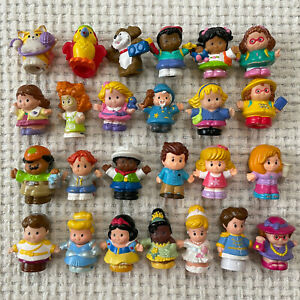 Fisher Price Little People Lot of 25 People Animals Disney Princesses