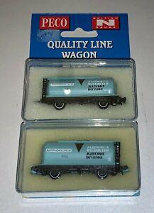 "2 x Peco (NR-P75) N Gauge PCA Cement Wagons ""Albright & Wilson"""