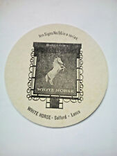 Vintage ROBINSONS - INN SIGNS - WHITE HORSE   - Cat No'114 Beermat / Coaster
