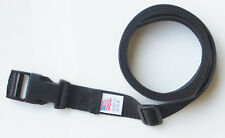 "BLACK BELT - 1"" X 54""  HEAVY POLY WEB with SIDE RELEASE BUCKLE"