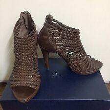 ZARA brown strappy peep toe booties heels Size 6 - REPRICED!