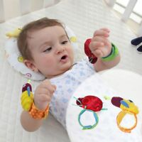 Newborn Baby Boy Girl Infant Soft Toy Wrist Band Rattles Finders Wristband USA