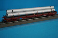 Marklin 47001 FS Four Axled Spiked open freight car with Alu piping Load