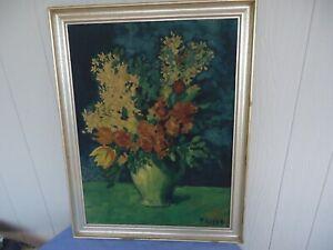large vintage Pablo Picasso framed print picture  flowers 1903 ganymed england