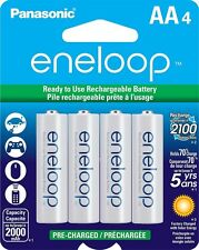 Panasonic Eneloop AA 4 up to 2000mAh NiMH Rechargeable Batteries USA SELLER