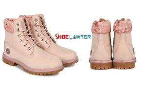 "Timberland Women's Premium 6"" Inch Waterproof Boot Lt Pink Nubuck Velvet A24K6"